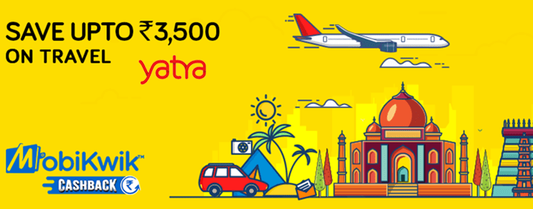 Yatra cashback offers and Deals on flight booking