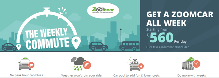 Zoomcar Cashback offers